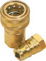 Single check valve coupling