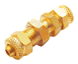 Brass PU Bulkhead Union